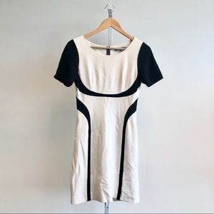 Antonio Melani Color Block Dress in Black & White